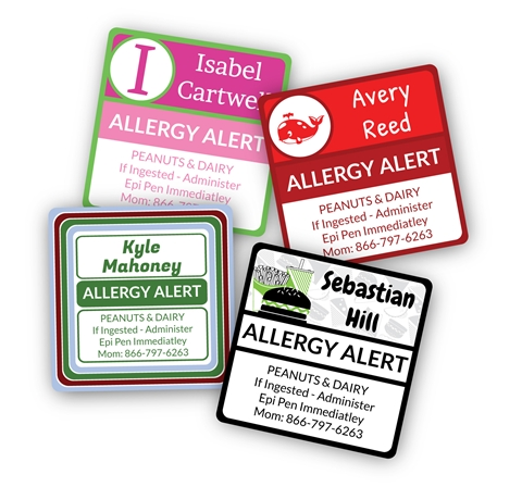 Allergy Alert Name Bubbles