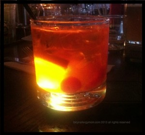 Old Fashioned made at Korzo Restaurant with Cherry Man Maraschino Cherries