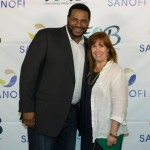Jerome Bettis and myself at the Food Allergy Blogger's Conference 2014 (FABlogCon)